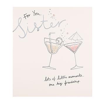 Amazon Hallmark Sister Birthday Card Big Friendship