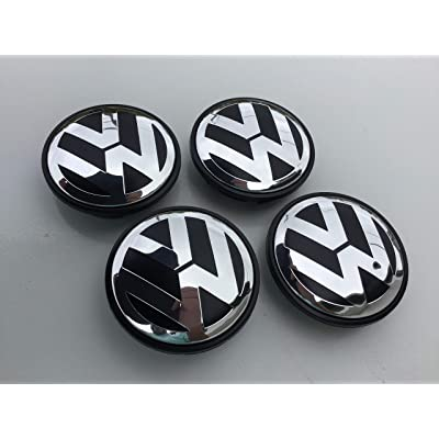DBGV Fits VW Volkswagen Wheel Hub Center Cap, 65mm, Golf, Beetle, Jetta, Passat, Tiguan: Automotive