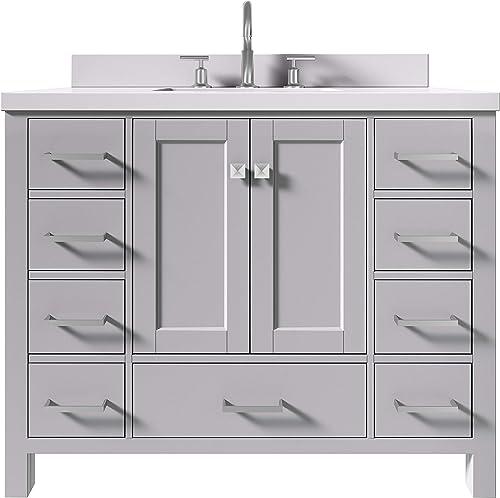 ARIEL 43″ Inch Grey Bathroom Vanity