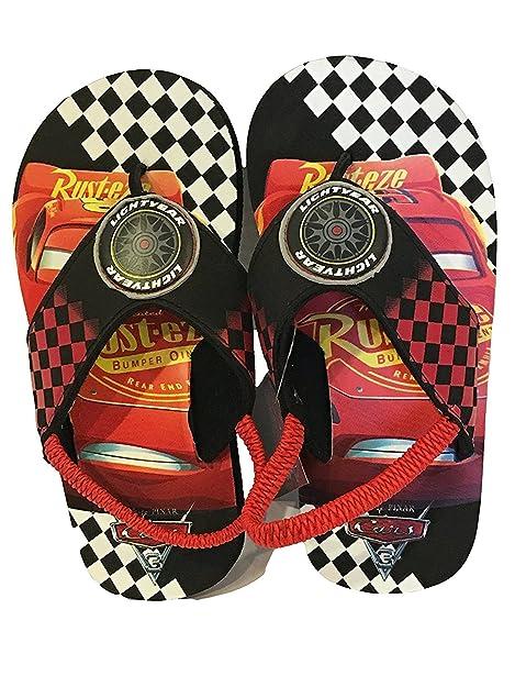 02ca38573 Pixar Toddler Boys  Cars Summer Flip-Flops Sandals S 5 6 Multicolored