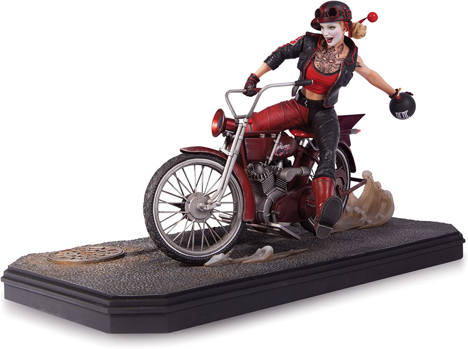 dc comics DC Direct - Figurine Harley Quinn Deluxe Statue Gotham ...