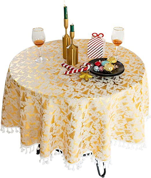 Tablecloth Oilcloth Wax Tablecloth Christmas Round-Square-Oval Washable 821