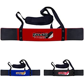 Farabi Arm Blaster Bicep isolater Bar Tricep Curl Bomber Fitness Gym Training by Farabi (Red