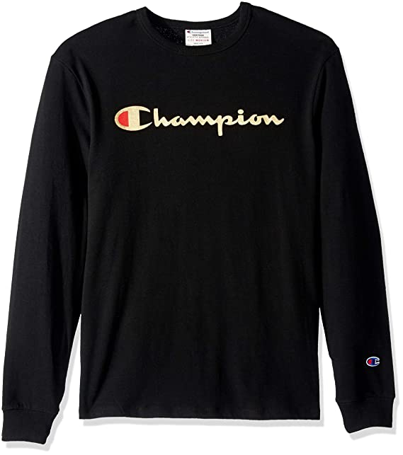 1349be5b Champion Mens Heritage Long Sleeve Tee T-Shirt: Amazon.ca: Clothing ...