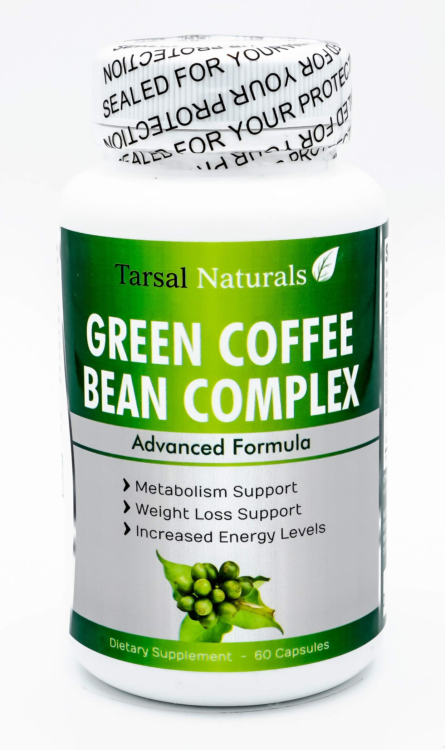 Green Coffee Bean Complex 60 Capsules Help in Obesity Diabetes high Blood Pressure and Bacterial infections Reduce The Absorption of carbohydrates from The Digestive Made in USA Gluten Free FDA