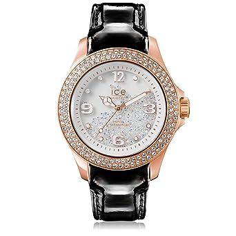 8a99331fc54cf3 Ice-Watch - ICE crystal Rose-Gold Black - Montre noire pour femme avec