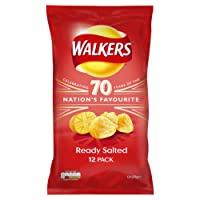 Walkers Ready Salted Multipack Crisps, 12 x 25 g