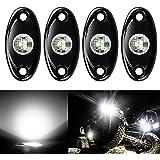 4 Pods LED Rock Lights, Ampper Waterproof LED Neon Underglow Light for Car Truck ATV UTV SUV Offroad Boat Underbody Glow…