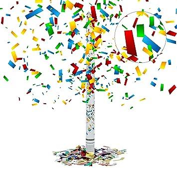 Relaxdays - Cañon de confeti 80 cm, cañón confeti para bodas ...