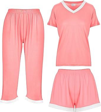 Womens Ladies Soft Comfy All In One Baggy PJ/'S Loungewear Xmas Gift nightwear