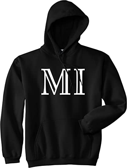 Kings Of NY MI Michigan High Fashion Typography State Mens Pullover Hoodie Hoody