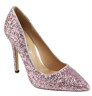 Weeboo Women s Monica-100 Pointed Toe Glitter High Heel Dress Pumps (7.5 e8aa4a358