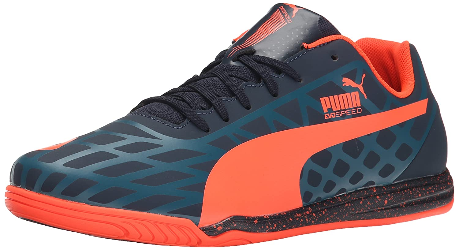 [プーマ] PUMA サッカーシューズ evoSPEED 5.4 TT B00QJ160C6Total Eclipse/Lava Blast/Tapestry Blue 11