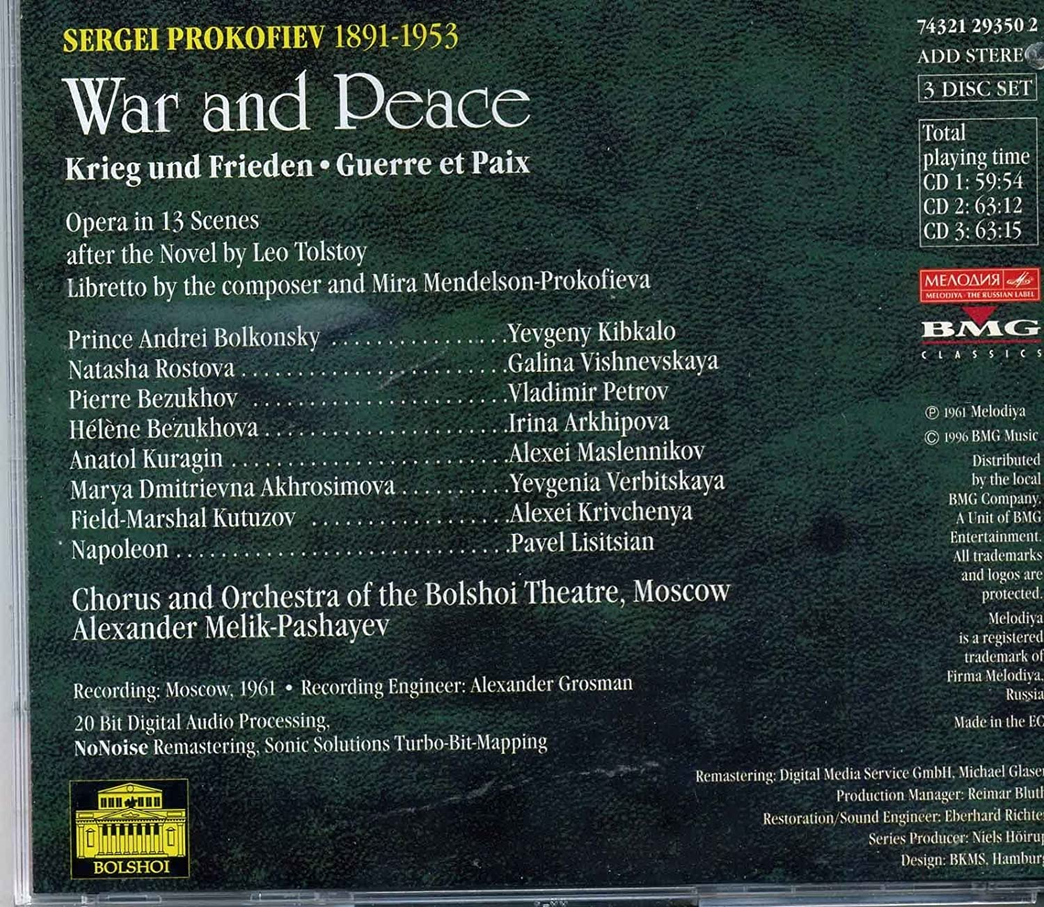 - Prokofiev: War & Peace by unknown (1996-07-16) - Amazon.com Music