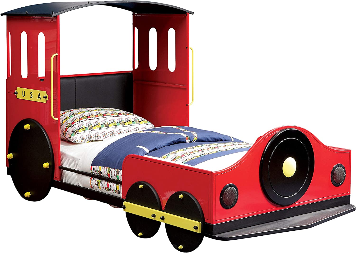 Furniture of America Alleny Train Bed, Twin