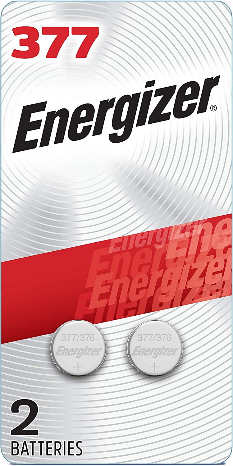 Energizer Silver Oxide 377 Batteries (2 Battery Count) - Packaging May Vary: Health & Personal Care