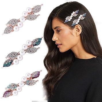 New Gold HAIR BARRETTE CLIP french clips barrettes slide slides DIAMANTE crystal