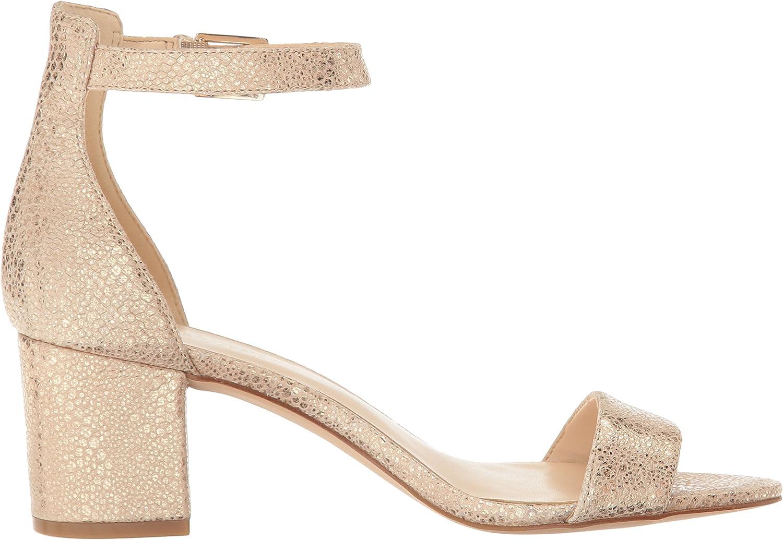 NINE WEST Womens Fields Metallic Dress Sandal