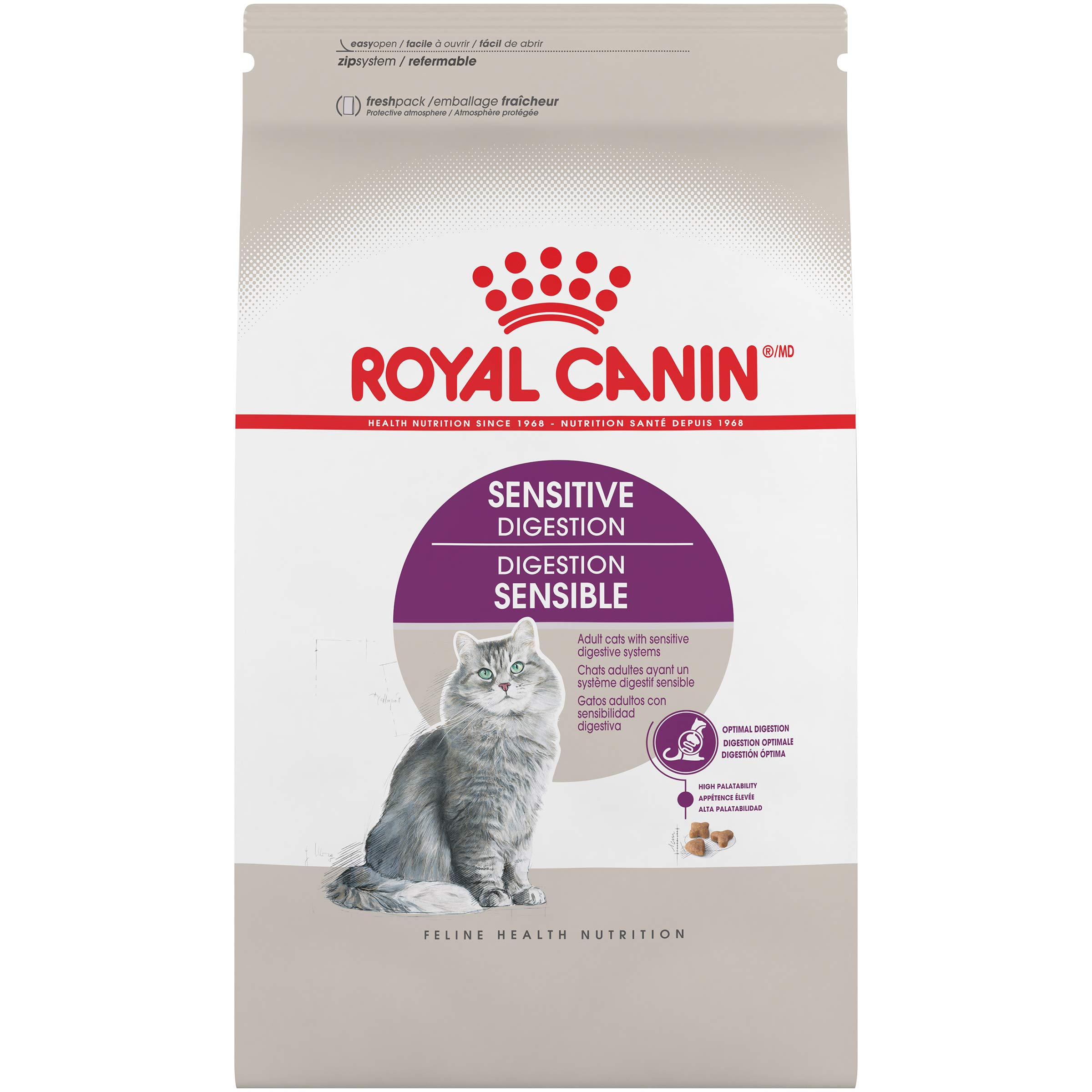 Royal Canin Adult Cat Sensitive Digestion Dry Adult Cat Food, 15 lb. bag by Royal Canin