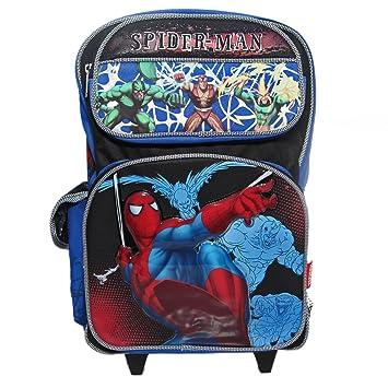 SpiderMan Rolling BackPack - Spider Man Large Rolling School Bag ...