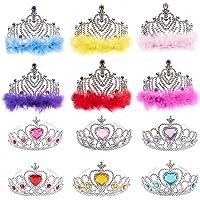 Blue Panda Princess Crown Set 12 Pack Tiara Party Favors Dress up Fairytale Role Play Kids