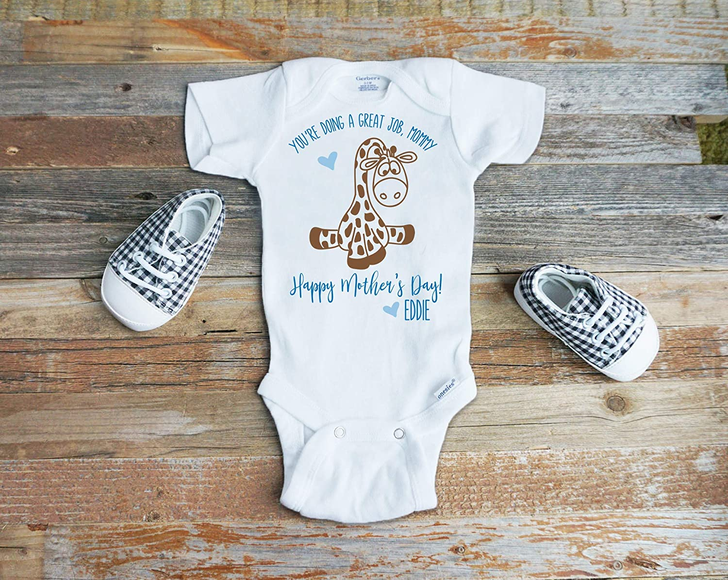 New Personalised Baby 1st Mothers Day Bodysuit Mummy Mum Name Print Present Gift