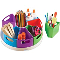Learning Resources Create-a-Space Storage Center, Homeschool Accessories, Fits 3oz Hand Sanitizer Bottles, Bright Colors…