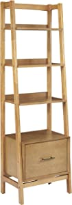 Crosley Furniture Landon Small Etagere Bookcase - Acorn