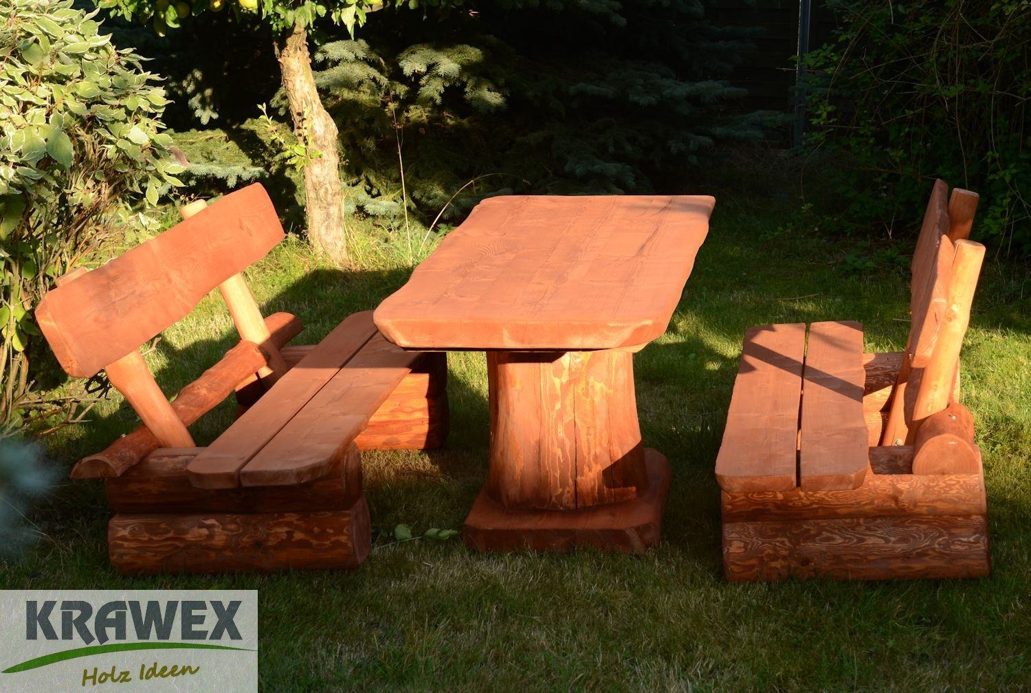 sitzgruppe sitzgarnitur biergarten gartenm bel gartenbank aus holz massiv kaufen. Black Bedroom Furniture Sets. Home Design Ideas