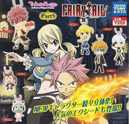 TOMY Takara Fairy Tail Part 5 - Juego de 6 llaveros (6 Objetos, 6 cm): Amazon.es: Juguetes y juegos