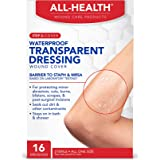 """All Health Clear Waterproof Transparent Dressing Wound Cover, 16 Dressings, 2.36"""" X 2.75"""""""