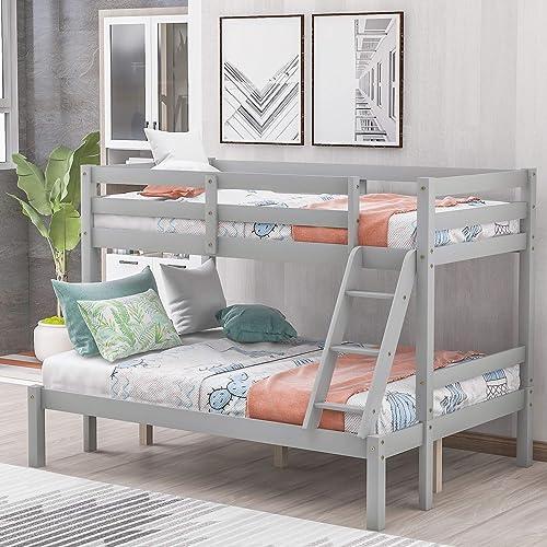 Harper Bright Designs Twin Over Full Bunk Bed