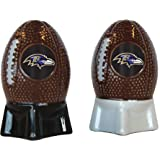 NFL Sculpted Football Shaped Salt and Pepper Shakers, Brown