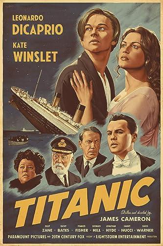 Amazon Com Titanic Movie Poster Wall Art Gift Decor Handmade