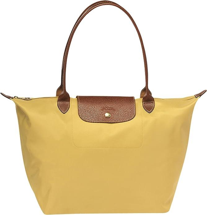 Sac ( de cours ) shopping curry Pliage Longchamp grandes anses ...