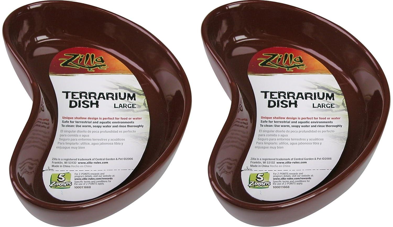 (2 Pack) Zilla Terranium Dish, Large, Colors Vary