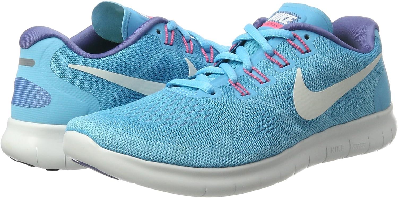 Nike Free Run 2017, Zapatillas de Entrenamiento para Mujer, Azul (Chlorine Blue/Off White-Polarized Blue-b), 36.5 EU: Amazon.es: Zapatos y complementos