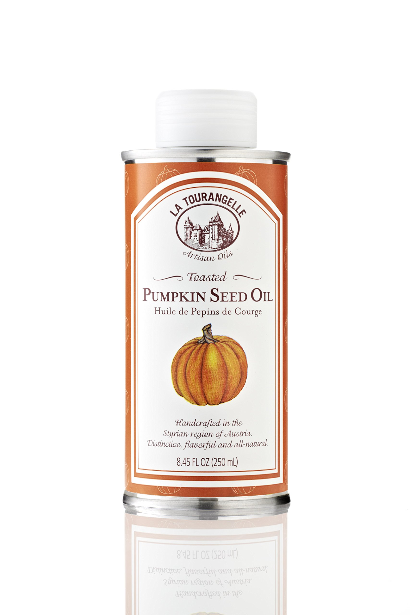 La Tourangelle Toasted Pumpkin Seed Oil, 8.45-Ounce Tins (Pack of 2) by La Tourangelle