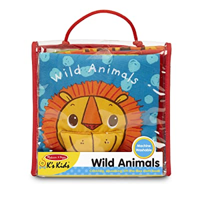 Melissa & Doug Soft Activity Baby Book - Wild Animals: Melissa & Doug: Toys & Games