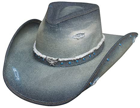 Montecarlo Bullhide Hats SILVER WINGS Denim Western Cowboy Hat at ... cea6e58957e