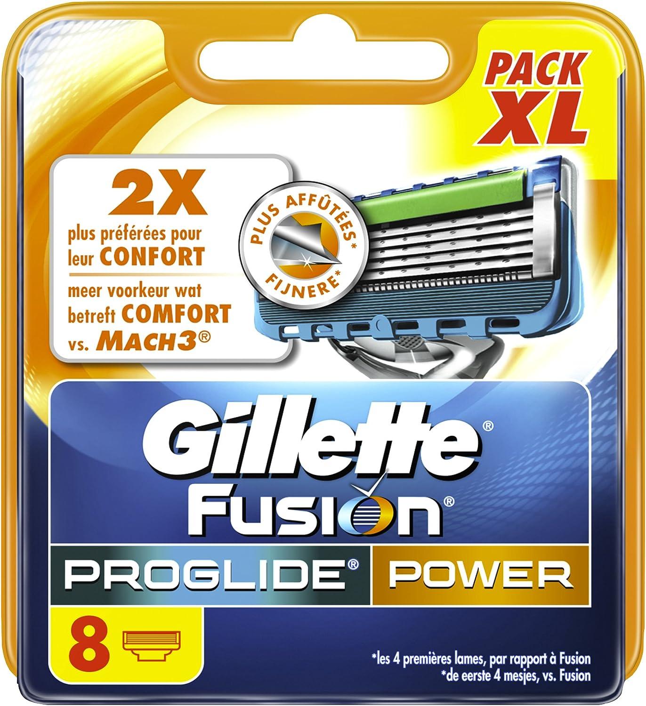 Gillette Fusion ProGlide Power-Recambios para cuchillas de afeitar ...
