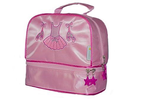 Bolsa de ballet de satén de color rosa para niñas