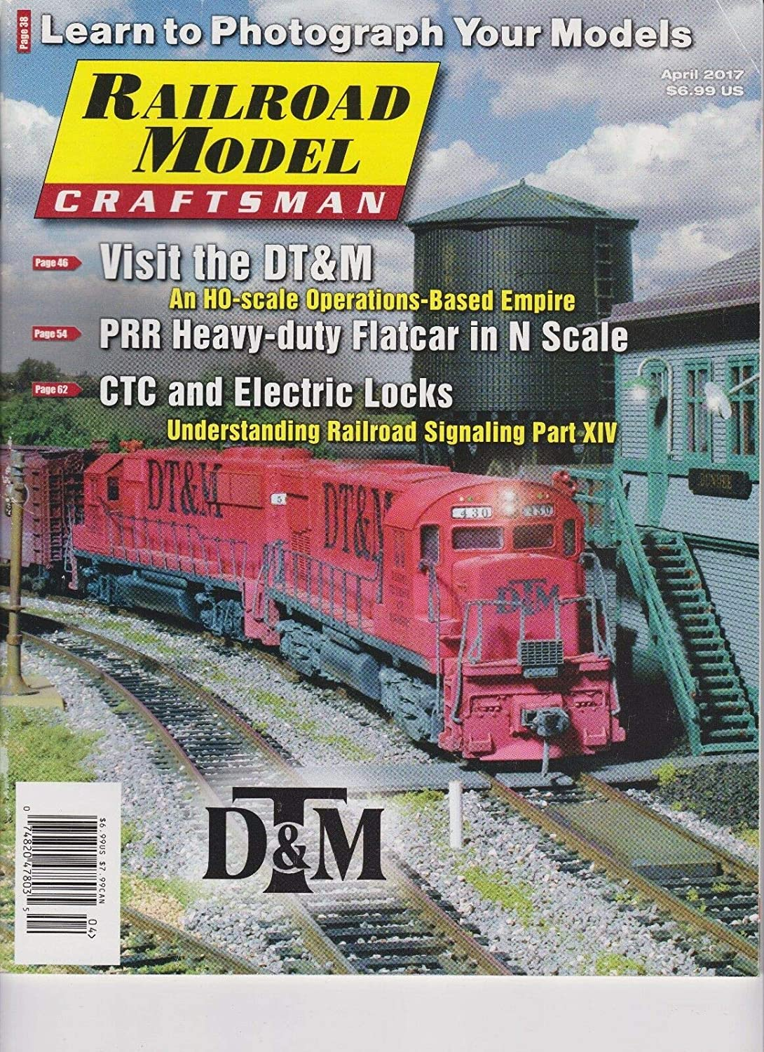 RAILROAD MODEL CRAFTSMAN MAGAZINE APRIL 2017 Unbranded