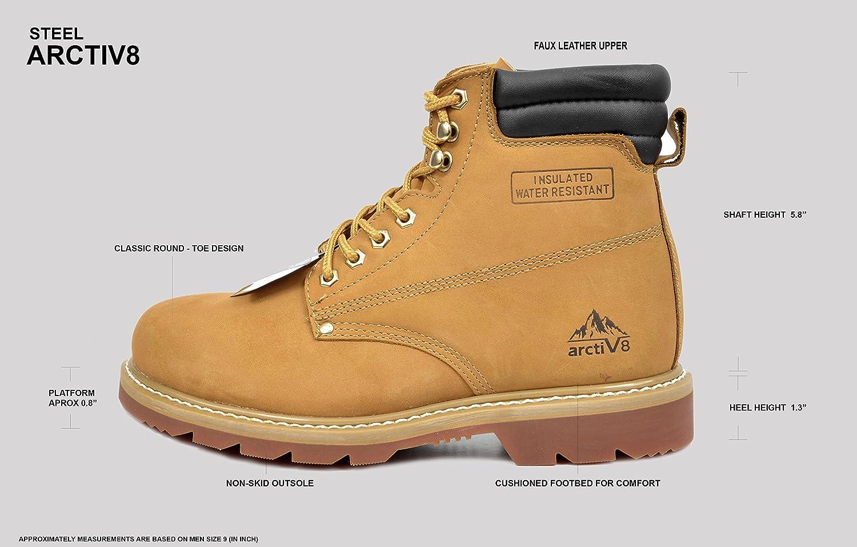 513bfcfe51b Amazon.com: arctiv8 Men's STEEL-01 Wheat Full-Grain Leather Steel ...