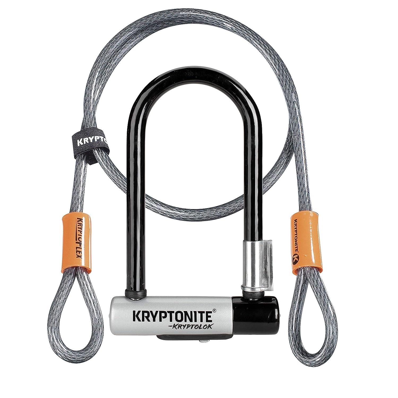 Kryptonite Kryptolok mini-7自転車U - Lock with 4-foot Kryptoflex Doubled Loopedケーブル 新-U 2017  B01N8SJ9CK