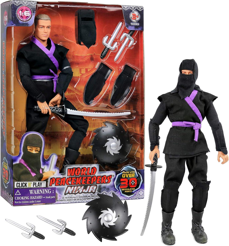 Amazon.com: Click N Play Juego de figuras de acción Ninja ...