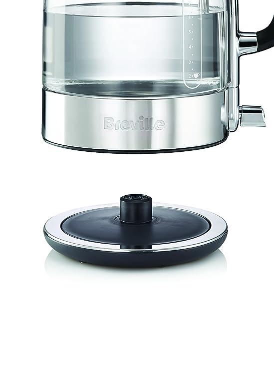 Breville VKT074X - Hervidor de agua con jarra de cristal de vidrio transparente (1.7 L, 2400 W): Amazon.es: Hogar