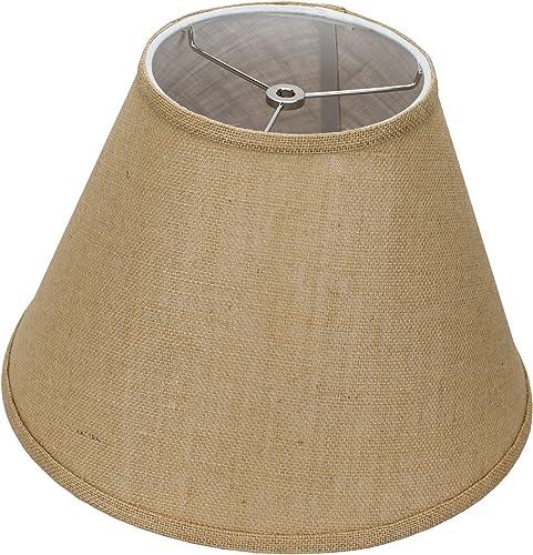FenchelShades.com 7 Top Diameter x 14 Bottom Diameter 10 Slant Height Lampshade USA Made Burlap Natural