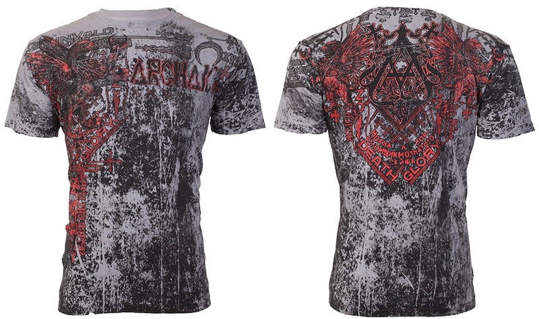 Affliction/ Archaic Mens T-Shirt Hearth Tattoo Biker MMA UFC