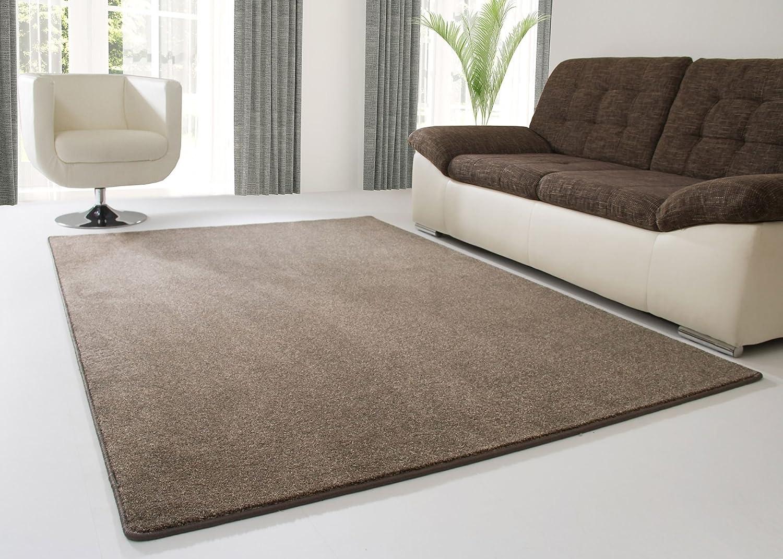 Designer Teppich Modern Longhirst in Braun, GUT Siegel Zertifiziert, Größe  200x300 cm